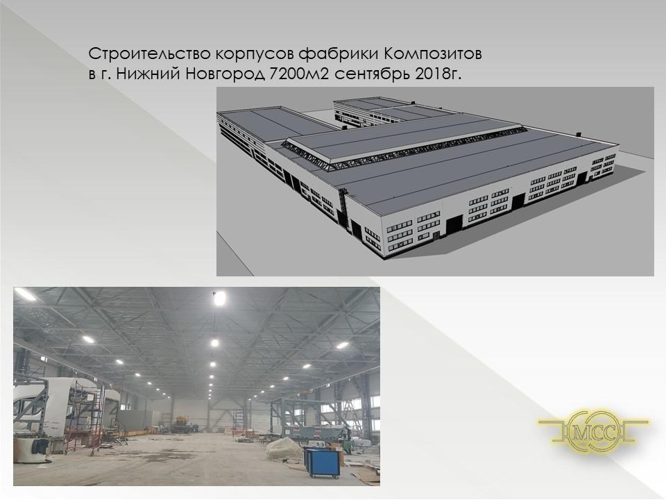 Строительство производственной фабрики г. Нижний Новгород 2018-2019гг.