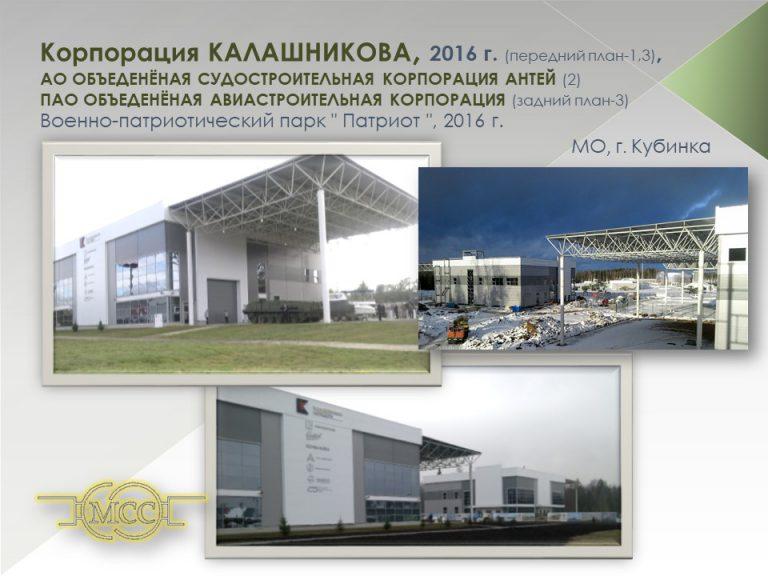 Навес здания Корпорации «Калашников»